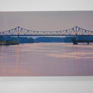 winona-postcard-bridge-after-sunset-dj-treasures-under-sugar-loaf-winona-minnesota-antiques-collectibles-crafts