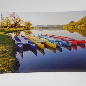 winona-postcard-canoes-colored-dj-treasures-under-sugar-loaf-winona-minnesota-antiques-collectibles-crafts