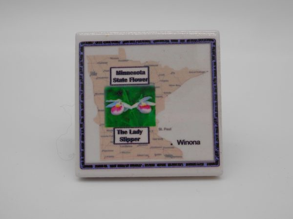 ceramic-state-flower-magnet-dj-treasures-under-sugar-loaf-winona-minnesota-antiques-collectibles-crafts