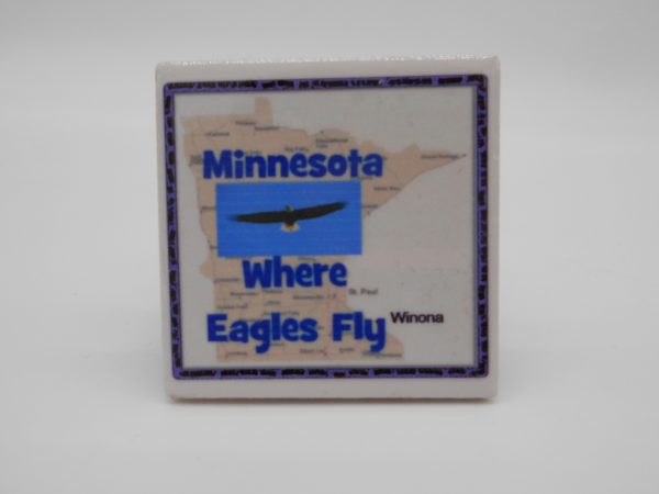 ceramic-where-eagles-fly-magnet-dj-treasures-under-sugar-loaf-winona-minnesota-antiques-collectibles-crafts
