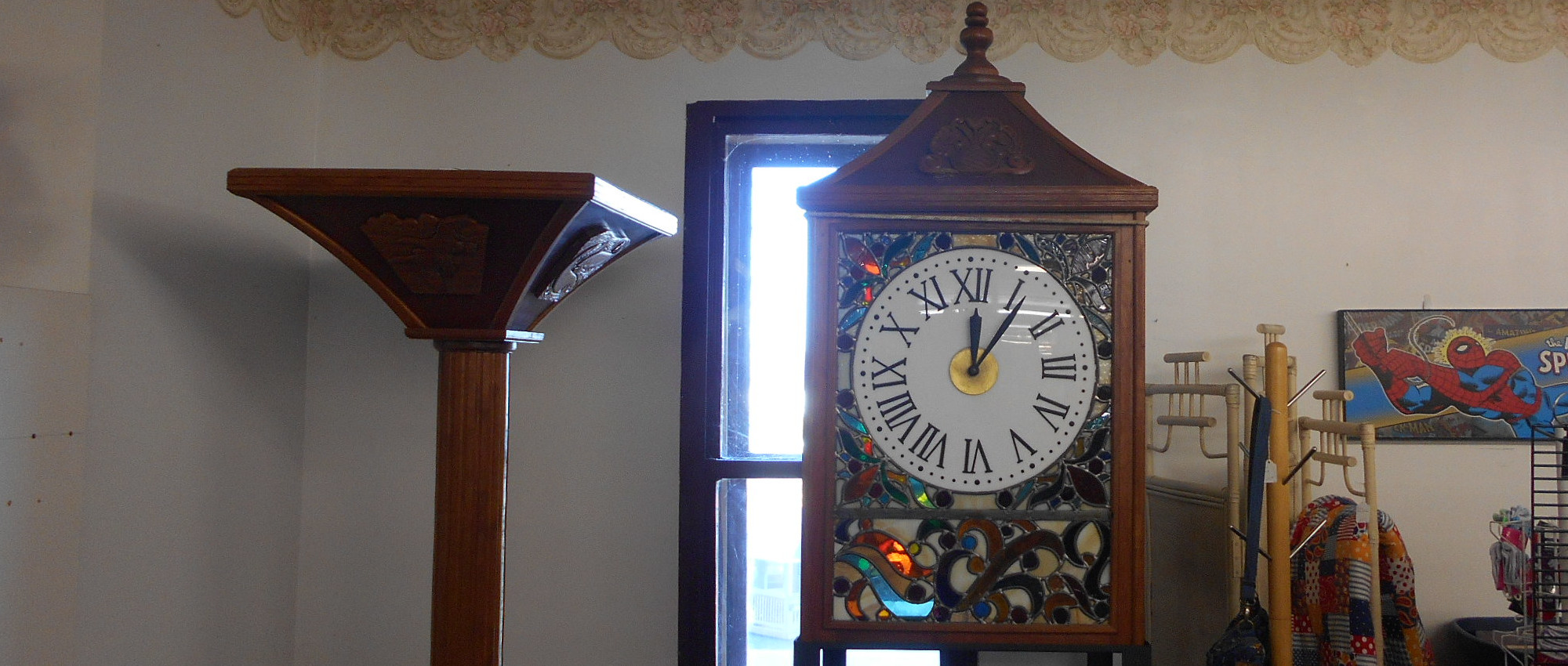 Winona clock at Treasures Under Sugar Loaf in Winona, Minnesota | Antiques, crafts, home decor, and collectibles