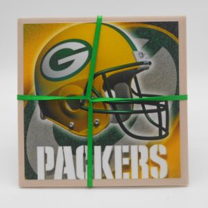 coaster-gb-packers-helmet-cms-treasures-under-sugar-loaf-winona-minnesota-antiques-collectibles-crafts