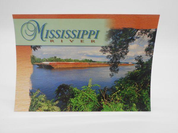 winona-postcard-mississippi-river-barge-dj-treasures-under-sugar-loaf-winona-minnesota-antiques-collectibles-crafts