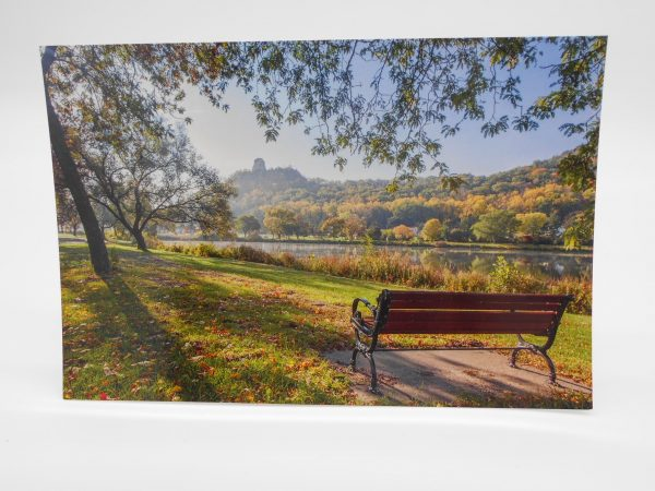 winona-postcard-seat-with-a-view-dj-treasures-under-sugar-loaf-winona-minnesota-antiques-collectibles-crafts