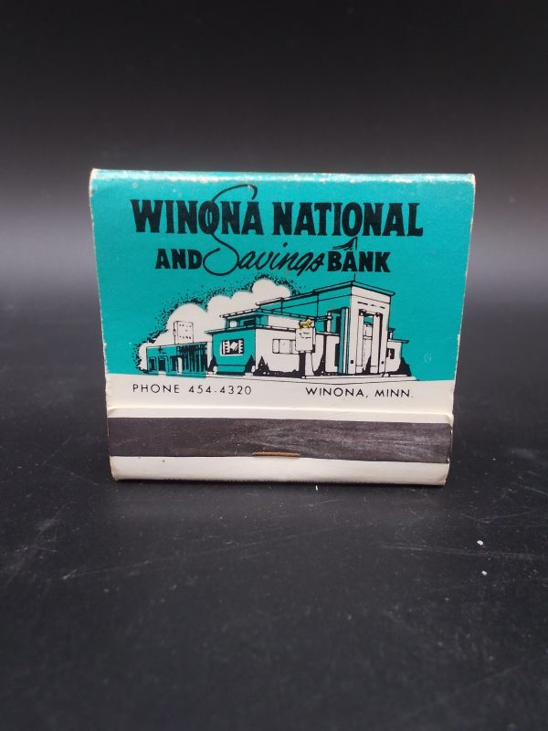 winona-national-bank-matchbook-1-dj-treasures-under-sugar-loaf-winona-minnesota-antiques-collectibles-crafts