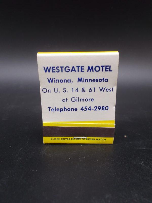 best-western-westgate-motel-matchbook-2-dj-treasures-under-sugar-loaf-winona-minnesota-antiques-collectibles-crafts