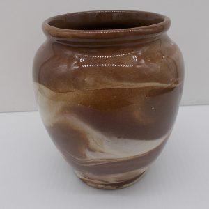 brown-white-vase-1-dj-treasures-under-sugar-loaf-winona-minnesota-antiques-collectibles-crafts