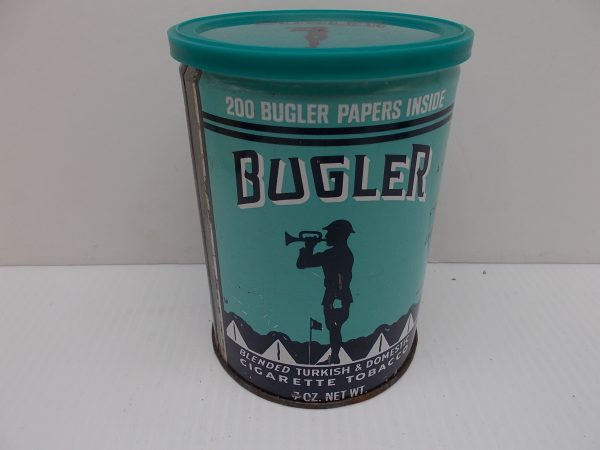 bugler-cigarette-tin-1-dj-treasures-under-sugar-loaf-winona-minnesota-antiques-collectibles-crafts
