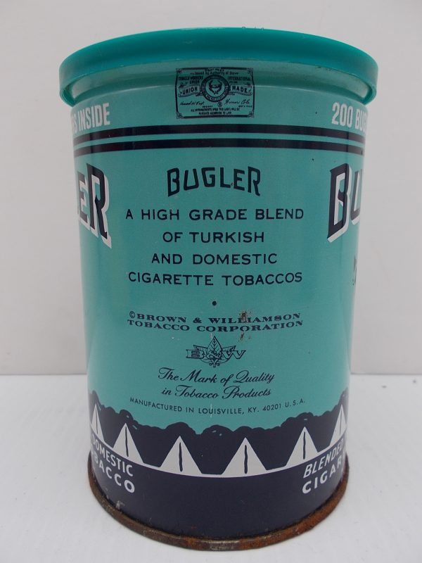 bugler-cigarette-tin-2-dj-treasures-under-sugar-loaf-winona-minnesota-antiques-collectibles-crafts