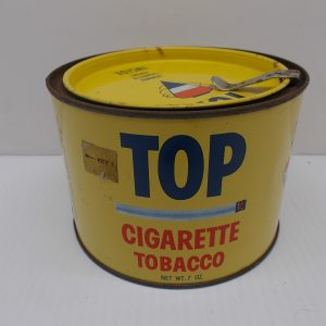 top-cigarette-tobacco-tin-1-dj-treasures-under-sugar-loaf-winona-minnesota-antiques-collectibles-crafts